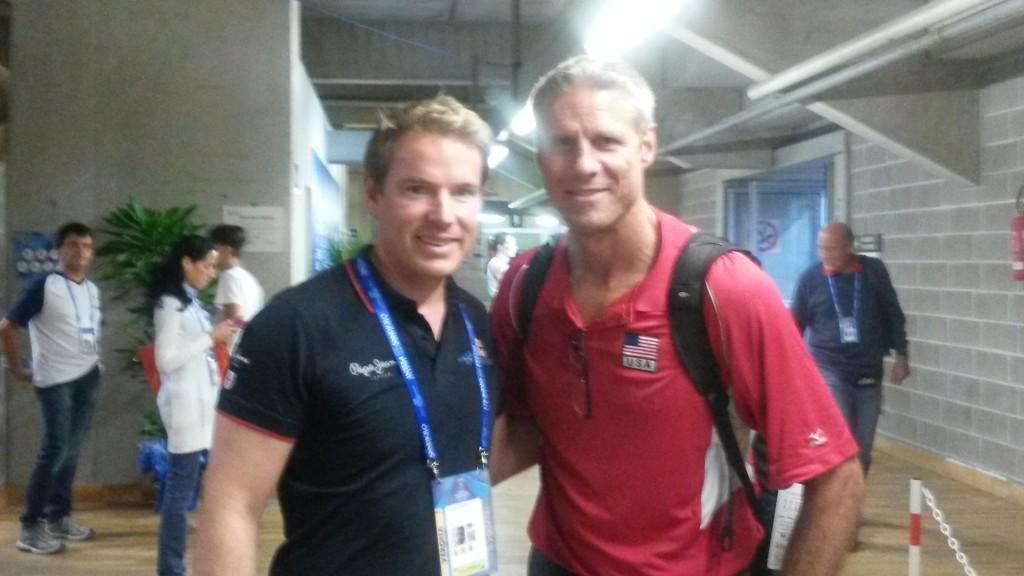 Christoph Kleinbeck mit Volleyball-Legende Charles Kiraly